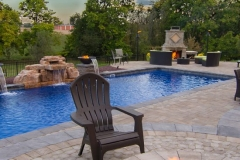 pool with outdoor fireplace 1