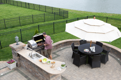 Take the Party Outside with Outdoor Kitchen Islands