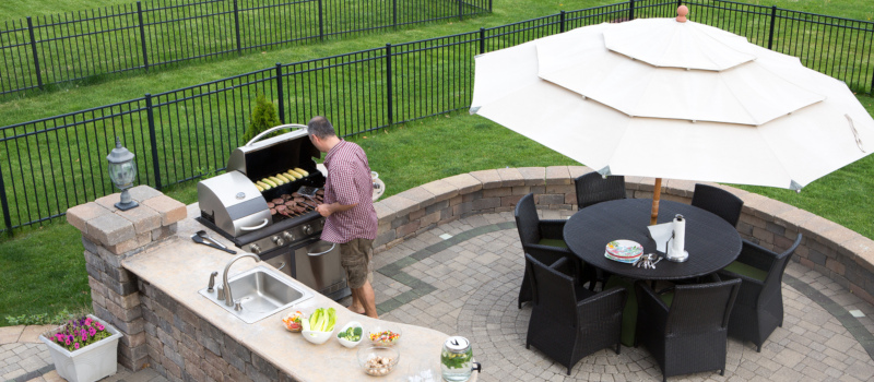 cooking and grilling outdoors