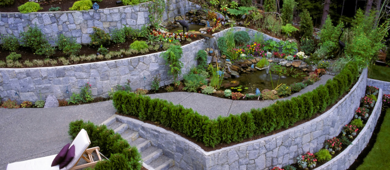 prevent dirt and erosion with retaining walls